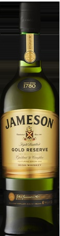 Jameson Gold Reserve is a creative blend of three whiskeys of advanced years, one of which is uniquely matured in virgin oak barrels. It's the inspired choice of this virgin oak, coupled with the bourbon barrels and sherry casks, that account for the whiskey's satisfying complexity and honey toasted sweetness.