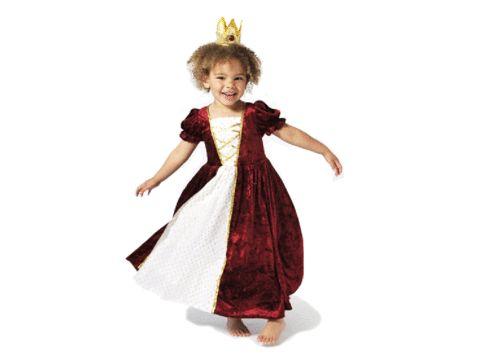 Prinsessklänning i sammet (röd)