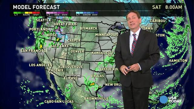 Nov 21 Friday's forecast: Stormy in southern Plains, West