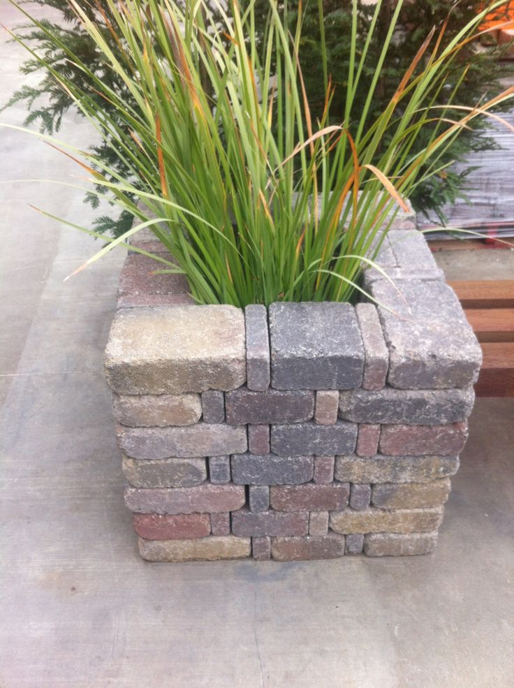 The 25 Best Brick Planter Ideas On Pinterest Garden Ideas Concrete Blocks Garden Ideas With