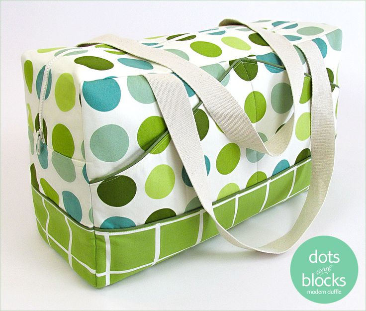 Points et blocs moderne Duffle | Sew4Home