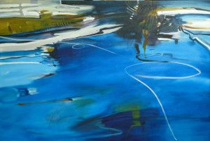 Pam Walpole 'Throw me a line' 1500 x 1000mm mixed media on canvas