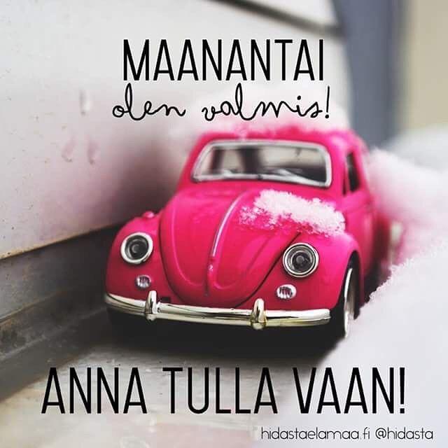Mikäs tässä, (melkein) Ritari Ässä! Jos keli ei hymyilytä, mieti jotain muuta, mikä hymyilyttää! Ja ei muuta kuin pinkkinä päivään ja uuteen viikkoon. Ja sovitaan yks juttu: tästä tulee hyvä viikko!!! #räntäsade #maanantai #tsemppi #pinkkinäpäivään #kiitollisuus #ilo #uusiviikko #hyväviikko