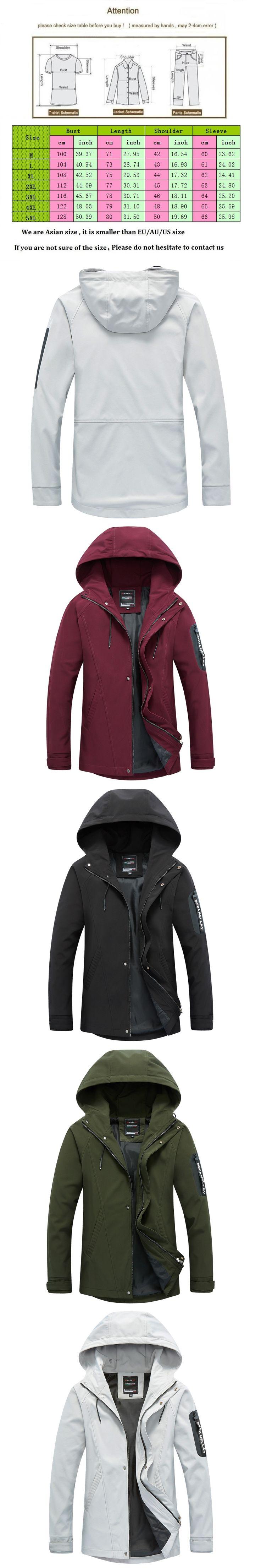 YuWaiJiaRen Mens Hoodies Casual Jackets Brand Clothing Mens Windbreaker Coats Male Outwear 5XL Letter Printed Mens Flight Jacket