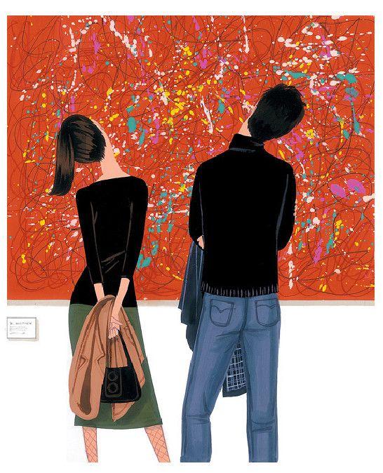 Jordi Labanda ilustración mirando un cuadro
