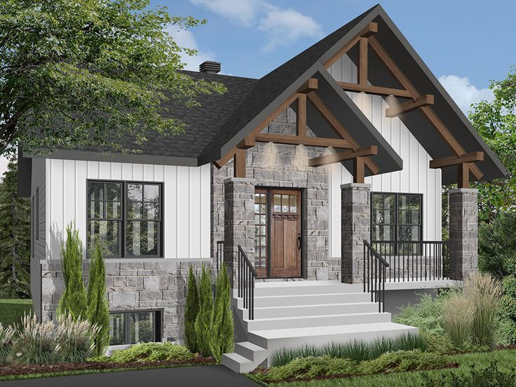 027h 0504 Empty Nester House Plan With Craftsman Details Craftsman Style House Plans Cottage House Plans Craftsman House Plans
