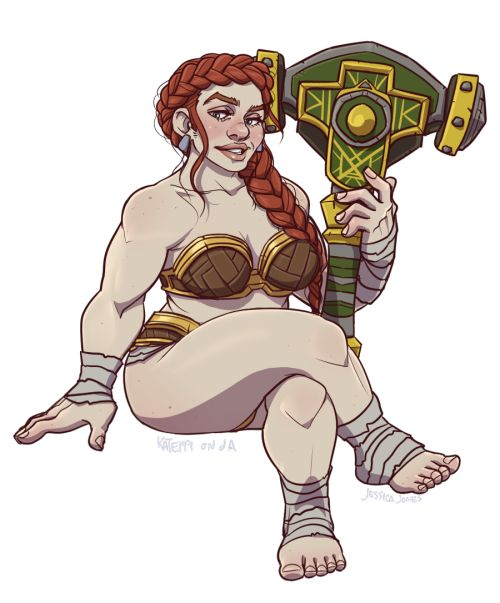 "saltmatey: ""a dwarf pin-up from world of warcraft """