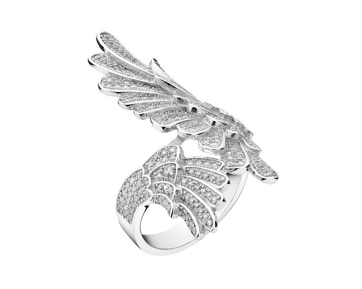 Pierścionek srebrny z cyrkoniami - wzór AP126-8051 / Apart