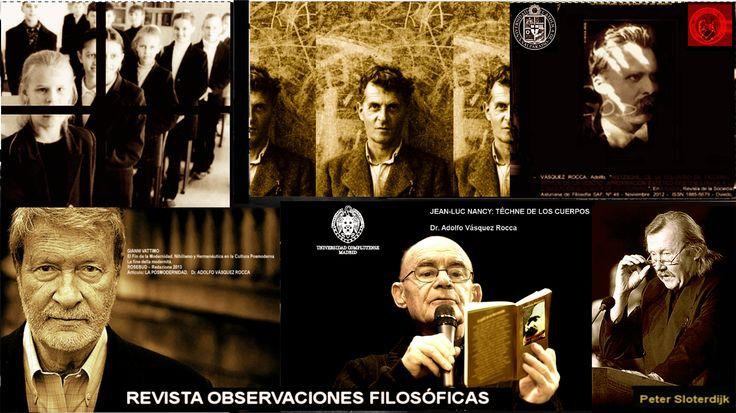 REVISTA OBSERVACIONES FILOSÓFICAS http://www.observacionesfilosoficas.net/ *Lanzamiento Número 15 - 2013 ↓ http://www.observacionesfilosoficas.net/nactual.html - Editorial Nº 15 http://www.observacionesfilosoficas.net/descripcion.html#editorial13 - Homenaje a Jacobo Muñoz: Figuras del desasosiego moderno. Homenaje a un Filósofo invicto: Jacobo Muñoz Veiga Eugenio Trías - Universidad Pompeu Fabra http://www.observacionesfilosoficas.net/homenaje-jacobomunoz.htm Dr. Adolfo Vásquez Rocca…