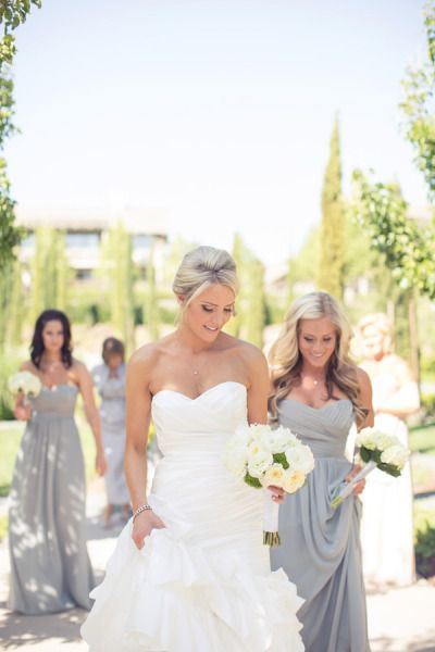grey bridesmaid dresses great for a garden maybe @Hannah Eastham ?