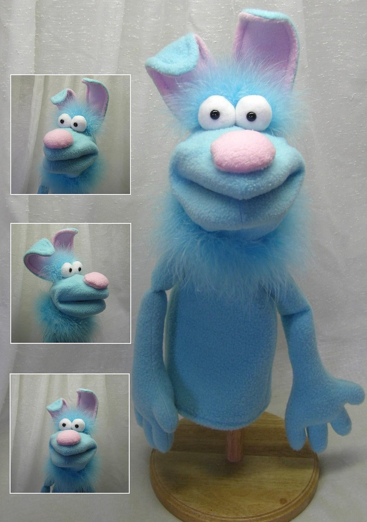 Hand Puppet (moving mouth). $43.00, via Etsy.