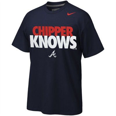 Nike Atlanta Braves ''Chipper Knows'' T-Shirt - Navy Blue