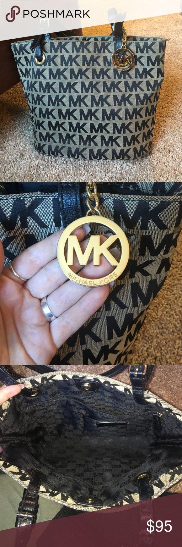 Michael Kors bag PRICE DROP!! Black medium sized MK tote/purse! Great condition Michael Kors Bags Shoulder Bags