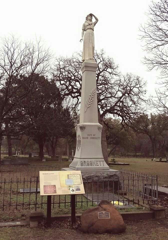 Gravesite of David Crockett in the Texas State Cemetery - Austin, Texas