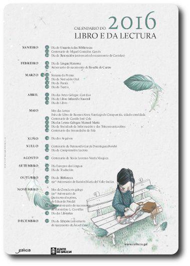 Calendario do libro e da lectura 2016, tirado de http://bega-horadeler.blogspot.com.es/