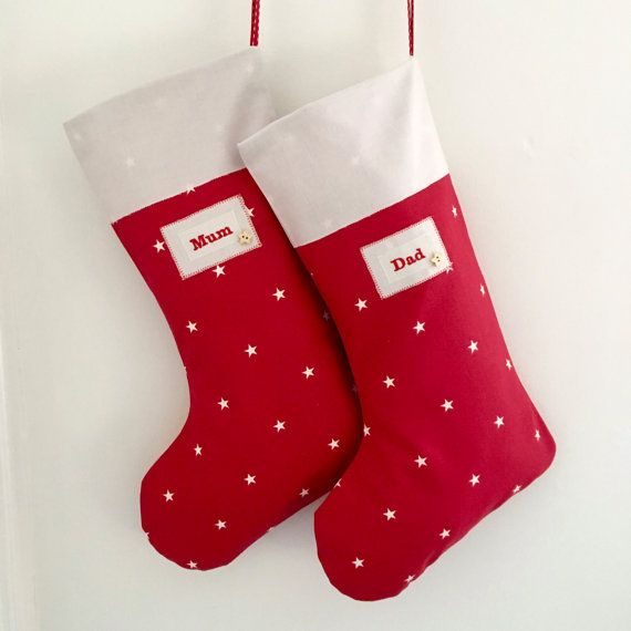 Personalised Christmas Stocking by CocoBlueDesign on Etsy