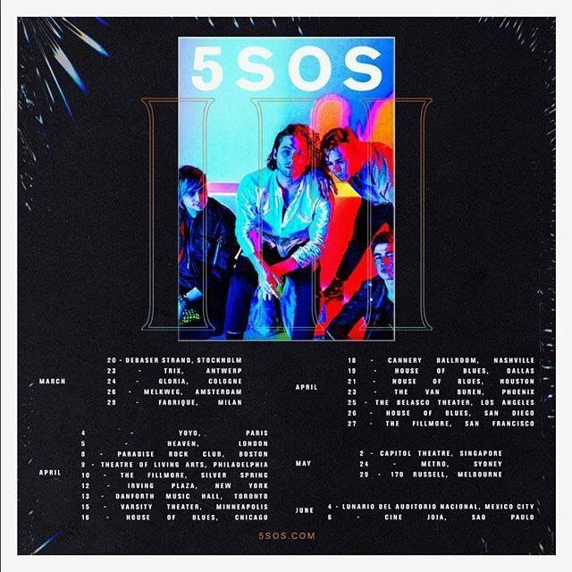 5SOS tour dates