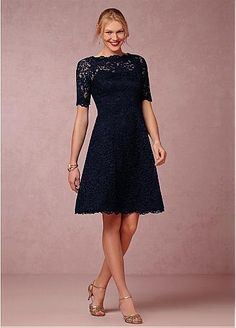 Elegant Lace A-line Knee Length Mother of the Bride Dresses