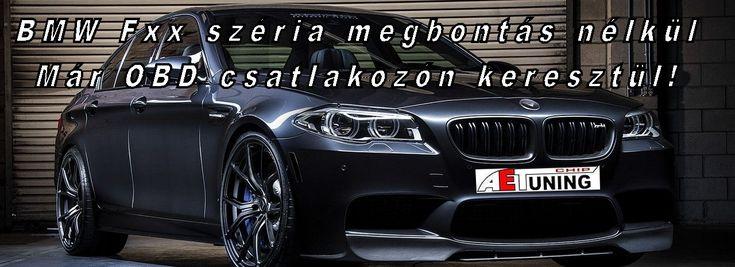 BMW Fxx széria programozása már OBD csatlakozón keresztül!  Már csak pár napot kell aludni és nincs többé vezérlőegység megbontás a BMW Fxx szériánál. Optimalizálás az OBD csatlakozón keresztül a  legtöbb BMW és Mini típushoz : BMW: F01, F02, F06, F07, F10, F11, F15, F16, F18, F25, F26, F30, F31, F32, F34, F36, F80,  F85, F86 Mini: F55, F56, F57 BMW: N13, N20, B47, N47, N55, S55, N57, N63TU, S63TU (kivéve: B48 és B58)…