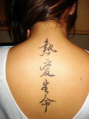 Chinese Symbol Word Tattoos