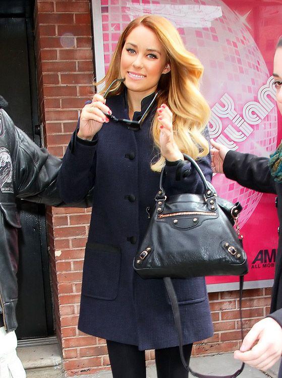 Lauren Conrad and  her Balenciaga Town Bag