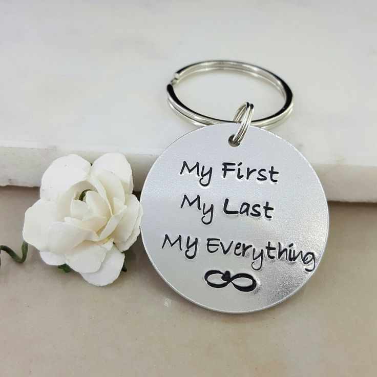 Tin Anniversary Gift, Gift for Husband, Gift for Wife, infinity keychain, gift for partner, my first my last my everything, boyfriend gift by EleganceAndMemories on Etsy https://www.etsy.com/listing/473018434/tin-anniversary-gift-gift-for-husband