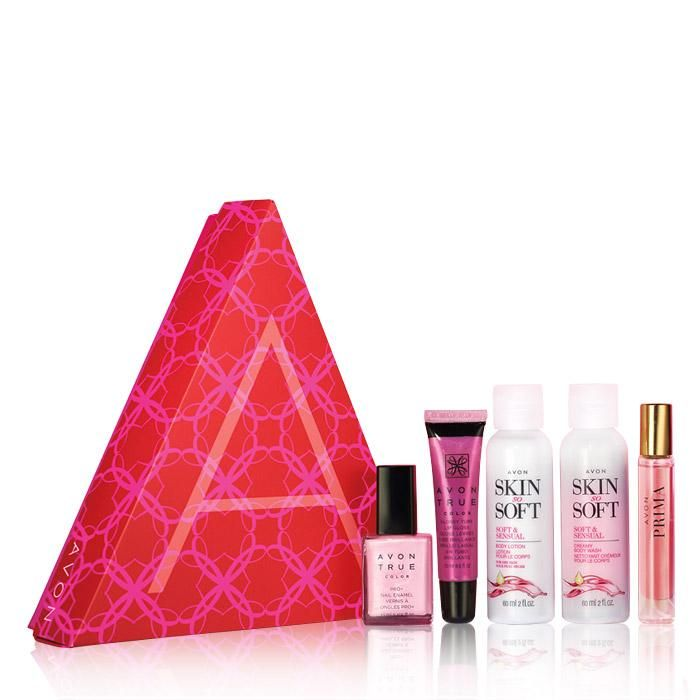 We're celebrating the month of hope with The Power of Pink Collection Includes:Two favorites, two new try-it sizes, plus a new purse spray• Avon True Color Glossy Tube Lip Gloss in Pink Burst• Avon True Color Pro  Nail Enamel in Pastel Pink• Skin So Soft Soft & Sensual Creamy Body Wash (try it-size)• Skin So Soft Soft & Sensual Body Lotion (try it-size)• Prima Eau de Parfum Travel Spray