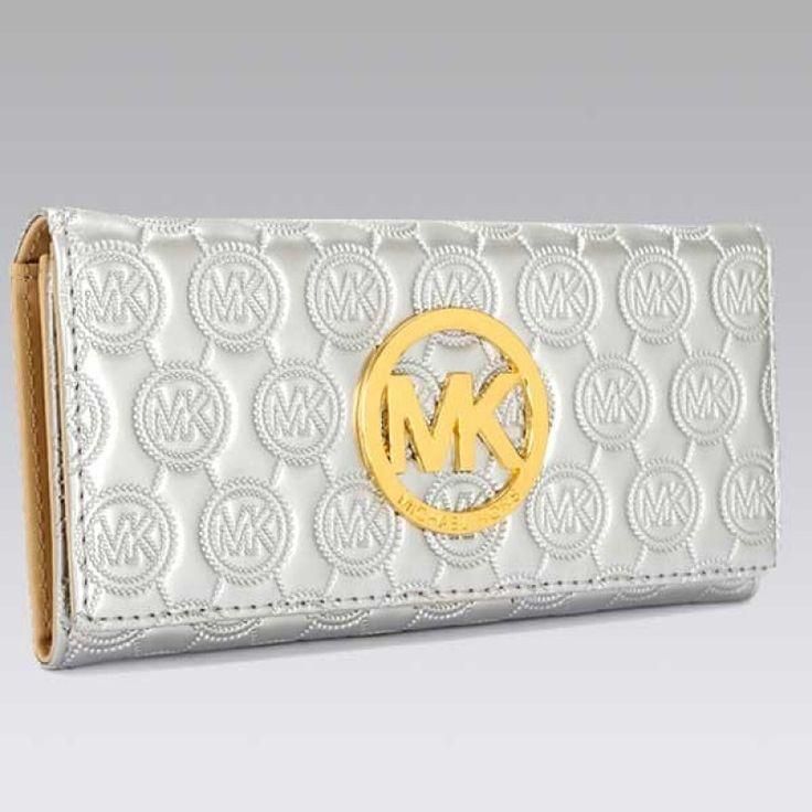 MICHAEL Michael Kors Jet Set Continental Flash white Wallet