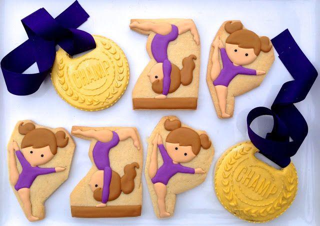 gymnast gymnastics gold medal cookies .Oh Sugar Events