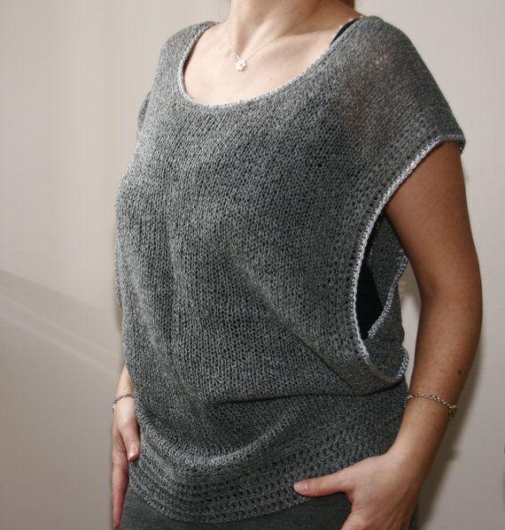 Maglione grigio per la primavera e di SEVILSBAZAAR su Etsy, $36.00
