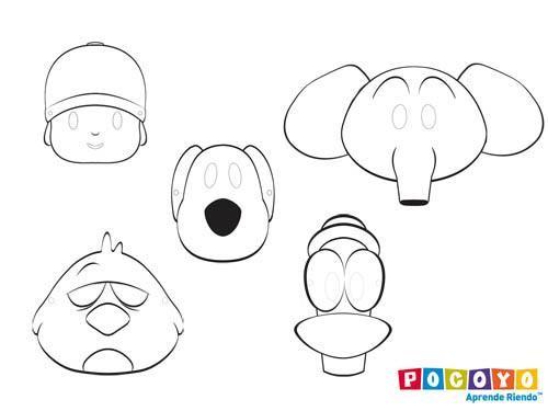 Patrones para realizar dibujos de pocoyo en foami - Imagui