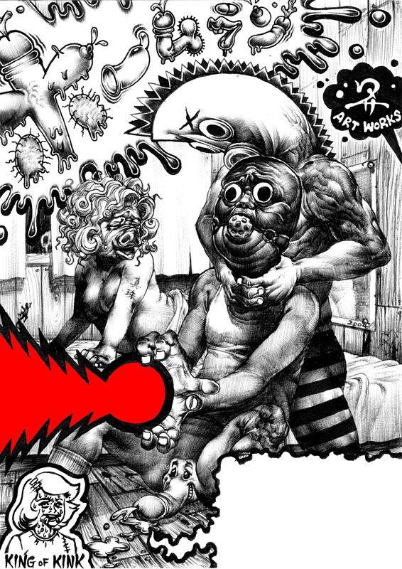 Juxtapoz Magazine - Bizarre Illustrations by Shohei Otomo