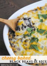 Cheesy Baked Black Beans & Rice. Cinco de Mayo!