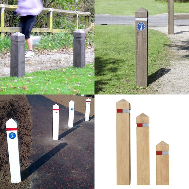 Glenwood™ Post - Manufactured from Everwood, this wood effect post is ideal for access control, verge protection or marking cycle routes in rural schemes. This post looks as good as wood with none of the maintenance. #GlasdonUK #Post #MarkerPost #CycleRoutes #WoodEffect