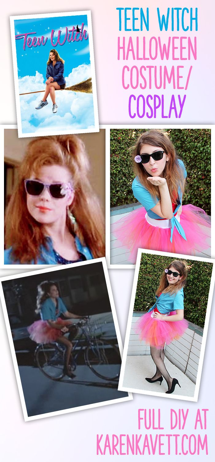 Who remembers Teen Witch, the hilariously bad 80s movie with spectacular fashion? I had to pay homage to it for Halloween 2014, and you can too with this DIY cosplay!