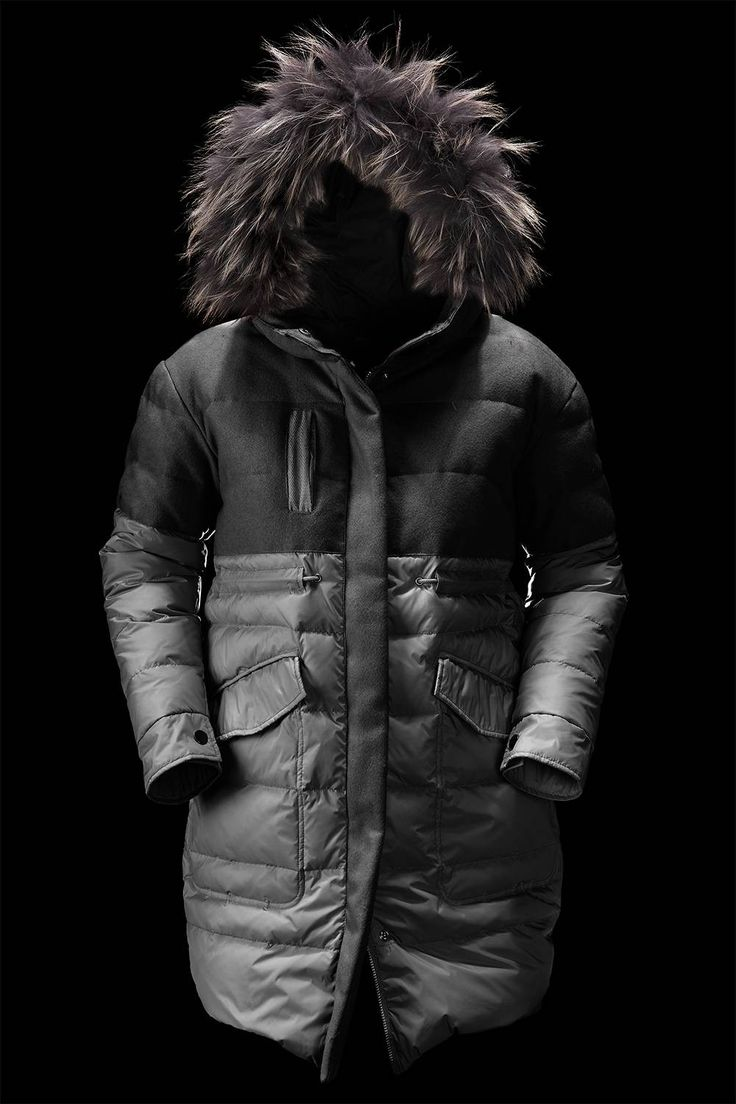coats - parka Woman WOMAN'S LONG DOWN JACKET IN REAL DOWN - Bomboogie