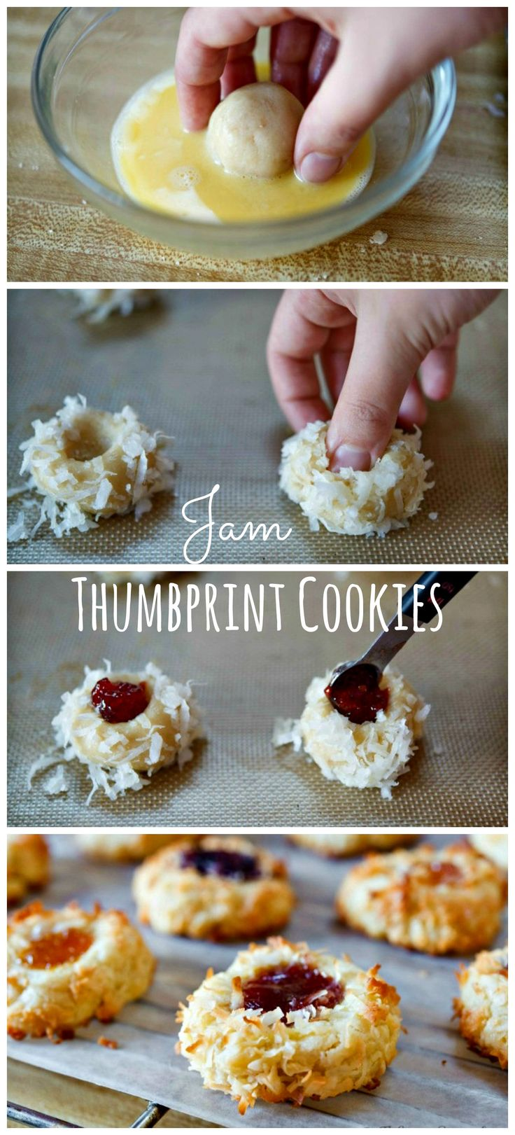 Jam Thumbprint Cookies. Learn step by step how to make these easy and festive cookies.