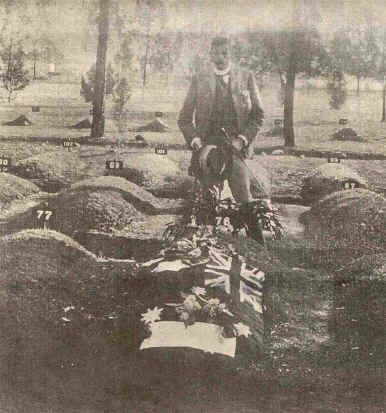 File:Breaker-morant-grave.jpg Major Thomas at the grave of Breaker Morant in 1902. Major James Francis Thomas (1861-1946), standing behind the grave of Breaker Morant and Peter Handcock in a civilian section of Pretoria's Church Street cemetery, 50m from the official Commonwealth military plot containing the remains of fallen soldiers from Britain, Ireland, Australia, Canada, South Africa and New Zealand