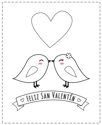 Tarjetas de San Valentín para colorear, las puedes descargar en: http://dibujos-para-colorear.euroresidentes.com/2014/01/12-tarjetas-de-san-valentin-para.html