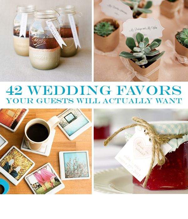 42 Wedding Favors Your Guests Will Actually Want  AWESOME! i think i would give the seed paper and homemade lip balm