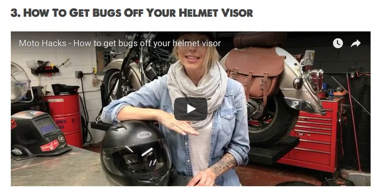 how to clean bugs off motorcycle