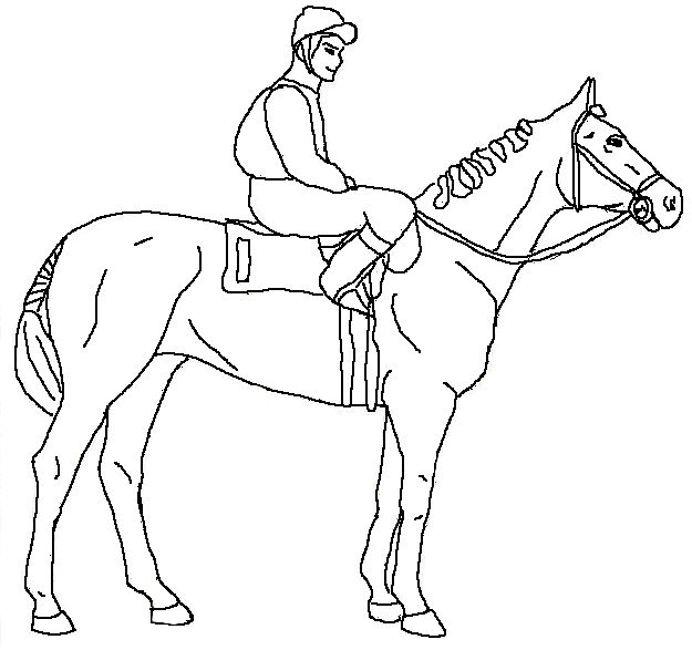 Dressage Horse Coloring Pages