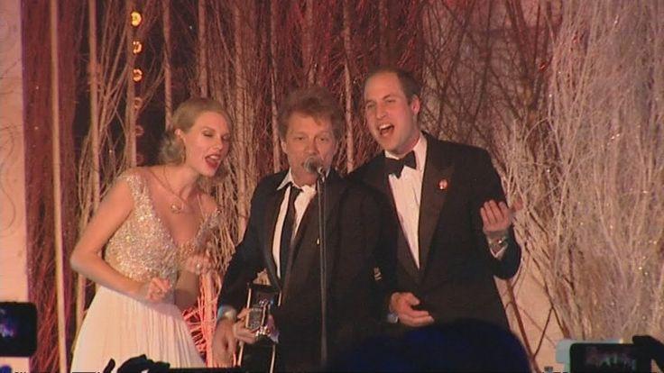 Prince William, Taylor Swift and Bon Jovi sing Livin' On a Prayer - FULL...