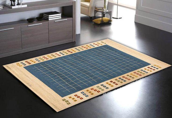 Alfombras contemporaneas OPORTO Azul. Decoración y diseño en alfombras online.