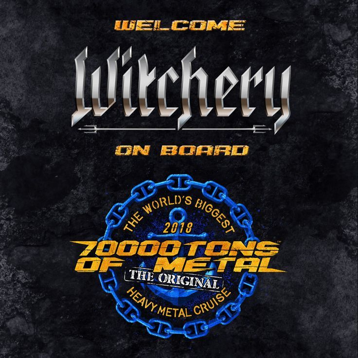 You'll be mesmerized by WITCHERY as they cast their dark spells on board Round 8 of 70000TONS OF METAL, The Original, The World's Biggest Heavy Metal Cruise! This just keeps getting better and better…