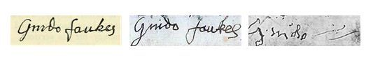Guy Fawkes' Post-Torture Signature