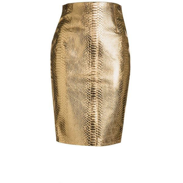 LEATHER PENCIL SKIRT T O R A N N C E ($349) ❤ liked on Polyvore featuring skirts, brown pencil skirt, pencil skirt, brown skirt, leather skirt and knee length pencil skirt
