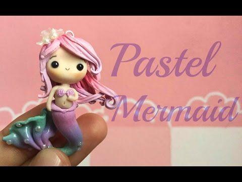 Pastel Mermaid Chibi Polymer Clay Tutorial ɞ