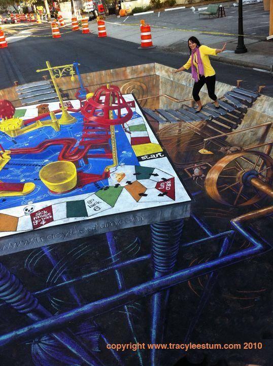 3D Street Painting – Sarasota Festival – Tracy Lee Stum
