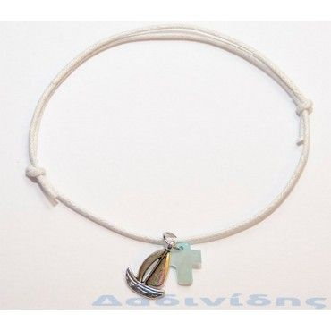 Μαρτυρικά βραχιολάκι με καραβάκι, κορώνα ή άγκυρα ΜΑΡ109